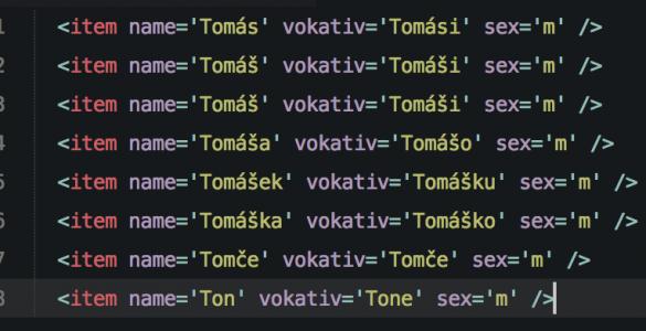 Česká jména ke stažení
