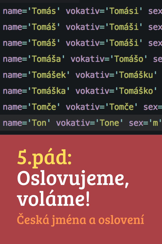Česká jména a oslovení