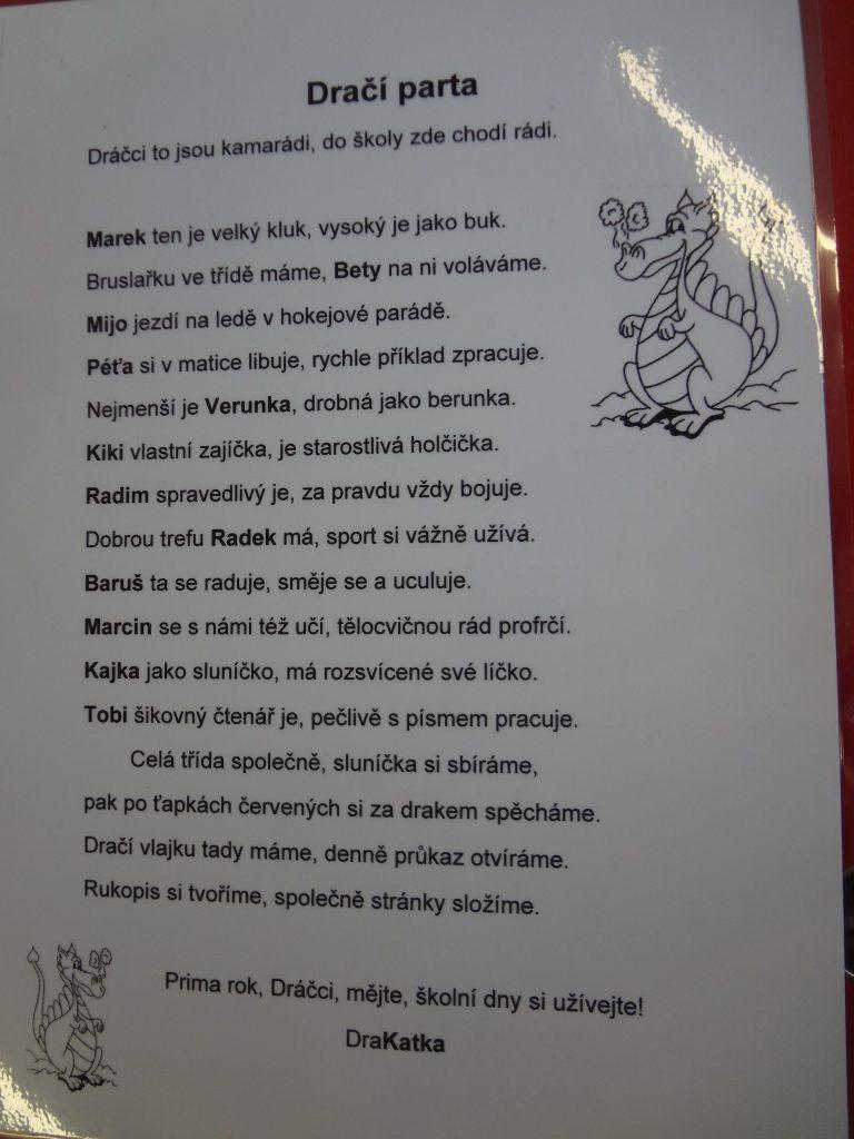 Třídní rýmy pro děti, aneb veršovačky úči Kačky