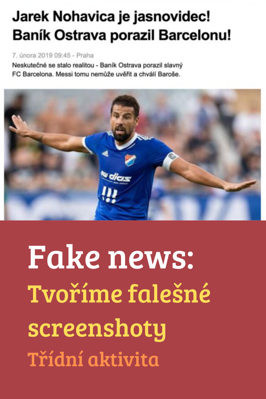 Fake news: Tvoříme falešné screenshoty webových stránek